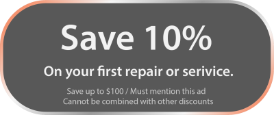 Save 10% on your first repair or service.
