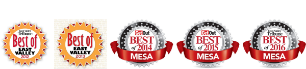 "Voted ""Best of Mesa"" five years in a row."